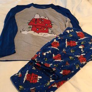 Snoopy Xmas pajamas